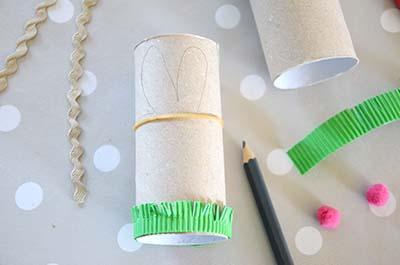 Diy lapin p ques rouleau carton cr amalice - Panier papier toilette ...