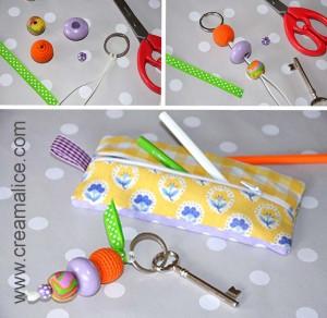 Porte-clefs Perles colorées