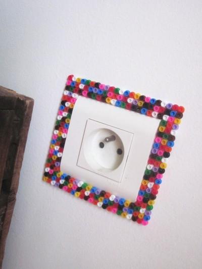 diy d co interrupteur perles hama. Black Bedroom Furniture Sets. Home Design Ideas