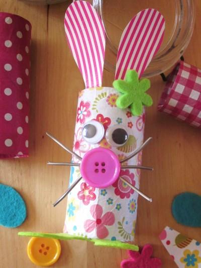 Diy lapins p ques r cup 39 rouleaux carton - Activite manuelle recyclage ...
