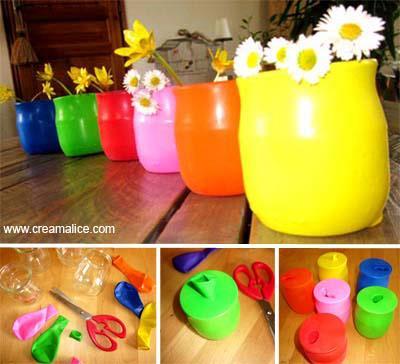 Vases Récup' Ballons