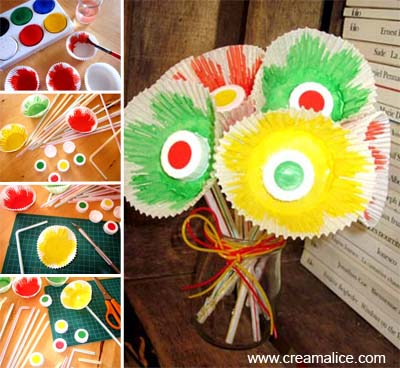 Fleurs Moules à Cupcakes