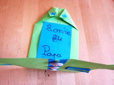 diy carte chemise origami f te des p res. Black Bedroom Furniture Sets. Home Design Ideas