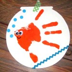 diy carte poisson d'avril empreinte main enfant