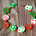 diy-collier-boutons-Fimo-pois