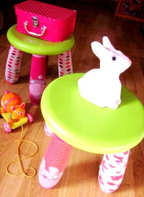 diy chaussettes r cup tabouret. Black Bedroom Furniture Sets. Home Design Ideas