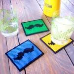 DIY_Dessous_de_Verre_Moustache_Perles_Hama