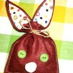 diy pochon lapin de Pâques en feutrine