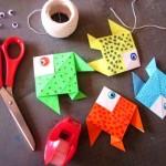 activité manuelle poisson origami