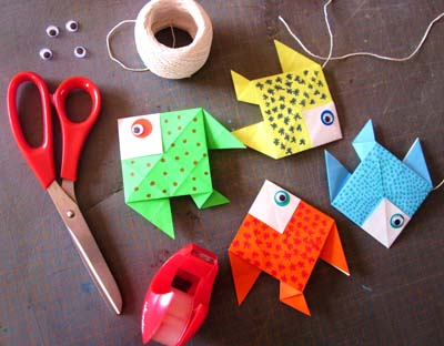 diy d co poissons origami. Black Bedroom Furniture Sets. Home Design Ideas