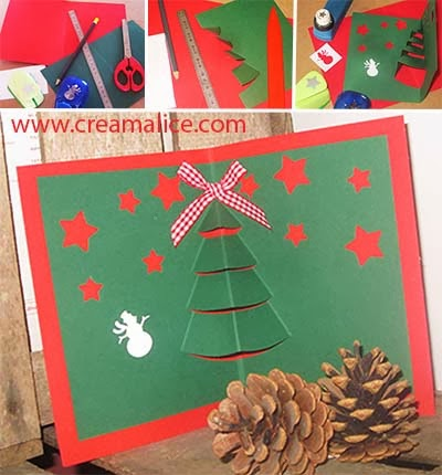 Carte Sapin Pop-up