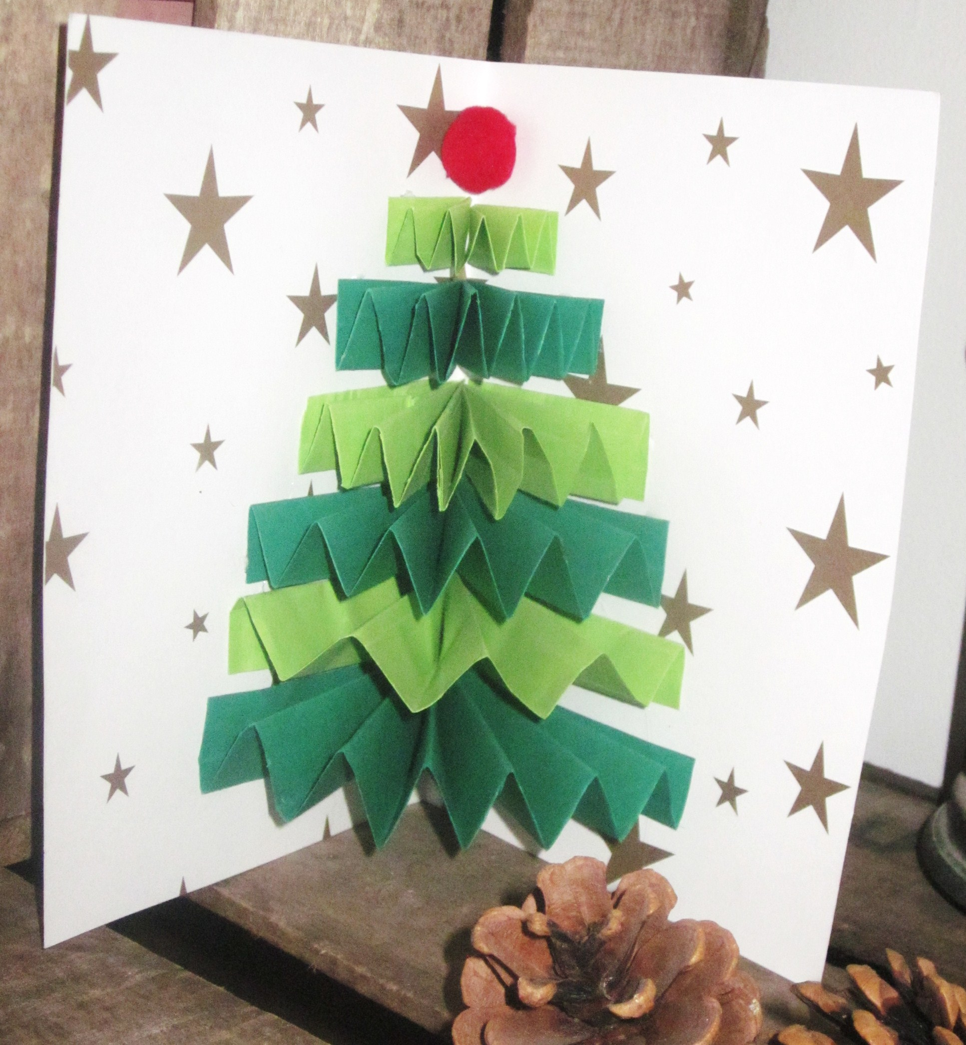 Diy carte sapin de no l accord on - Carte de noel a fabriquer maternelle ...