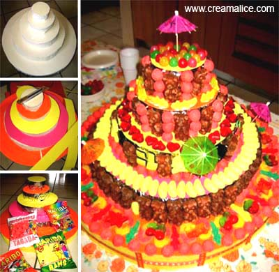 Gâteau Anniversaire Bonbons