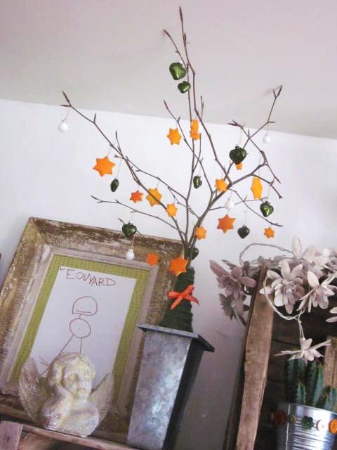 Diy arbre de no l agrumes for Deco arbre de noel