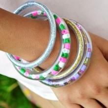 diy bracelet tube paillettes