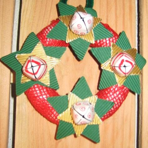 Mini-couronne de Noël Grelots