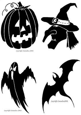 DIY Pochoirs Halloween
