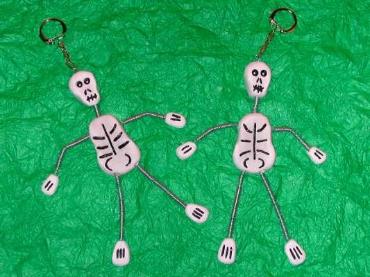 diy Porte-clefs Squelette Halloween