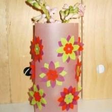 diy cache-vase calque coloré