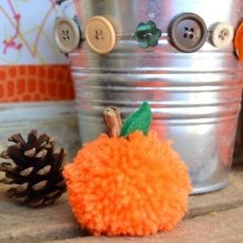 diy citrouille pompon Halloween