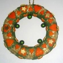diy couronne Noël déco peaux d'orange