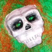 diy masque squelette Halloween en bande plâtrée