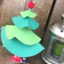 diy mini-sapin Noël pliage papier