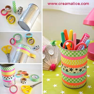 diy pot à crayons Masking tape