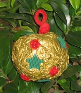 Boule Noël Papier Froissé