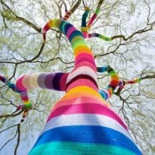 diy Yarn bombing