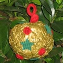 diy boule Noël papier froissé