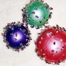 diy boule Noël perlées