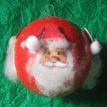 diy boule Père Noël serviette papier