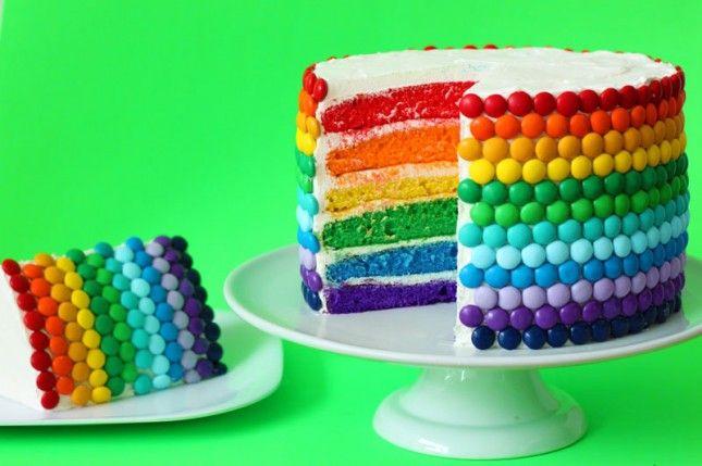 diy web ❤ du jour… un gâteau d'anniversaire arc-en-ciel
