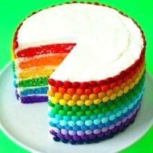 diy gâteau anniversaire Arc-en-ciel
