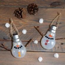 diy ampoule customisée bonhomme de neige