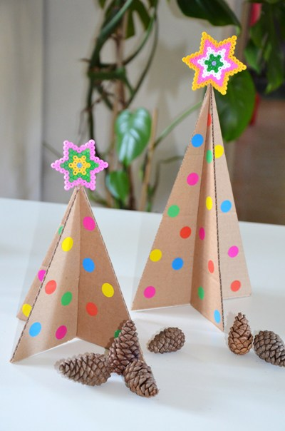 Diy Mini Sapin De No L En Carton