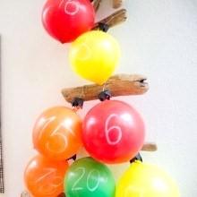 diy calendrier de lavent ballons baudruche
