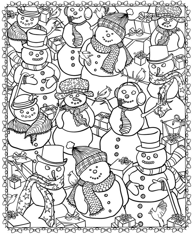 Printable Coloriages De Noel Creamalice Do It Yourself