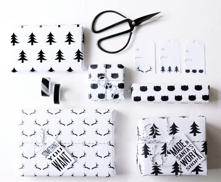 ✄ Printable: Papiers Cadeaux Noël ✄