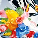 Tulipes, Huile sur toile Jeff Koons