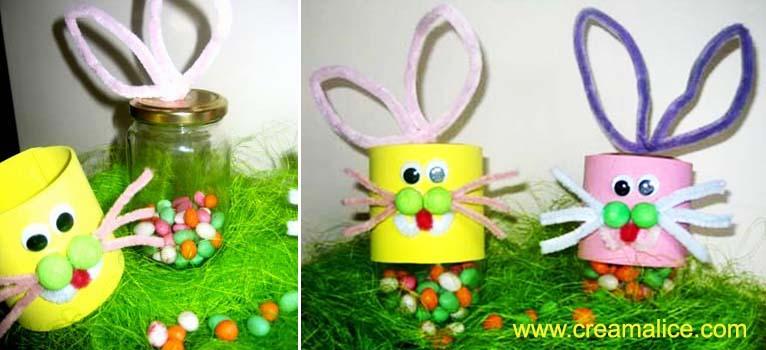 Diy bocaux lapins de p ques for Decoration lapin de paques