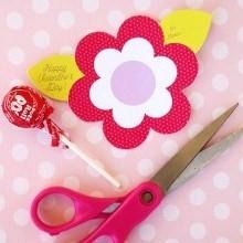 diy printable bouquet fleurs sucettes Saint Valentin