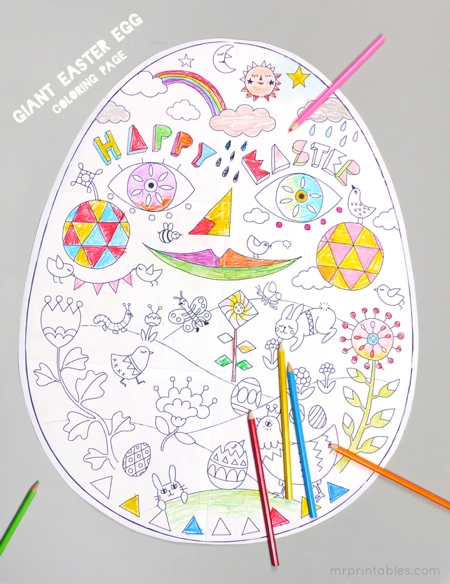 printable-coloriage-geant-œuf-Paques