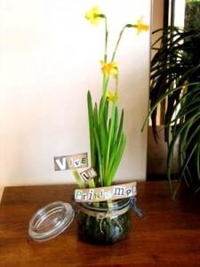 diy déco bocal fleurs printemps