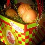 diy panier Pâques tressé