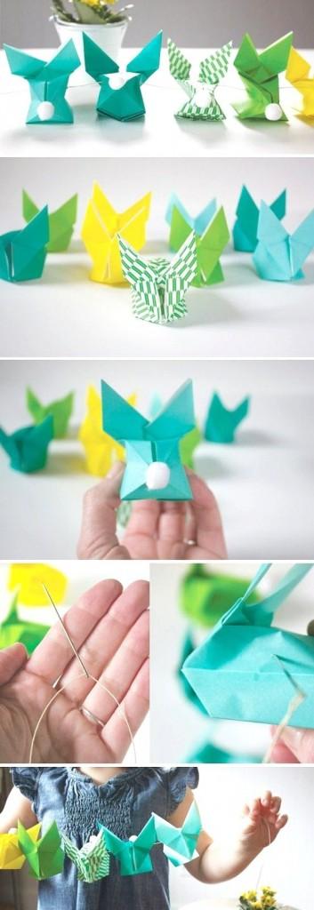 diy web du jour guirlande lapins origami creamalice do it yourself. Black Bedroom Furniture Sets. Home Design Ideas