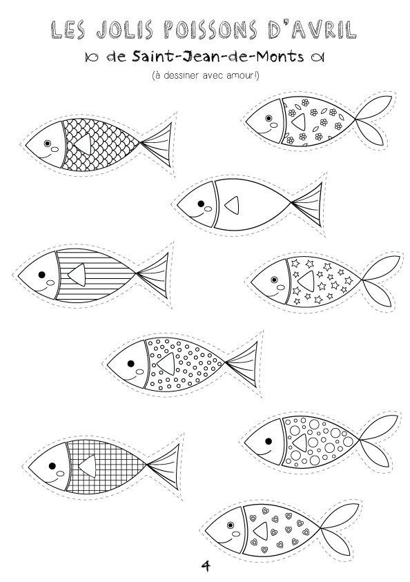printable coloriages poissons d u0027avril créamalice