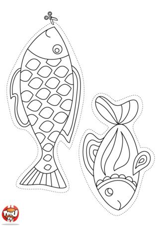 Printable coloriages poissons d 39 avril cr amalice - Dessin de poisson d avril ...