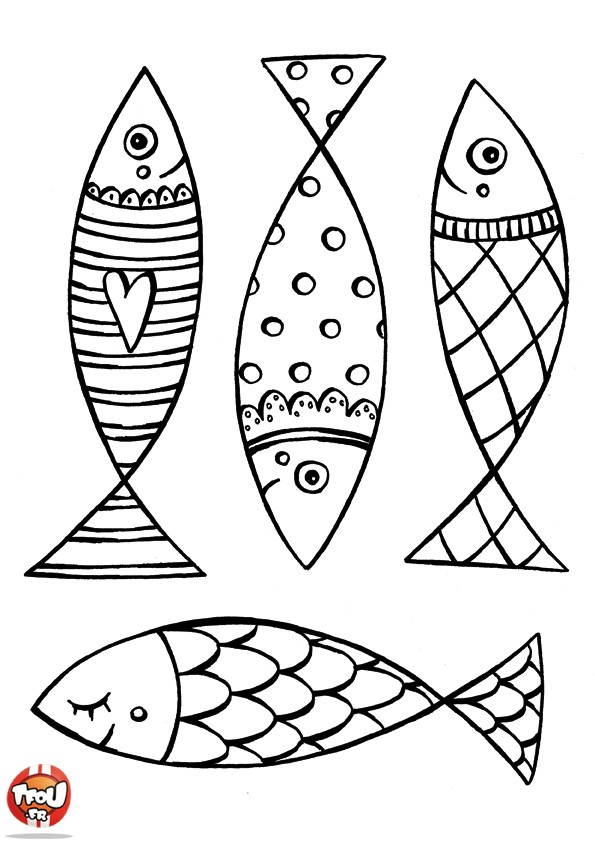 printable coloriages poissons d 39 avril cr amalice. Black Bedroom Furniture Sets. Home Design Ideas